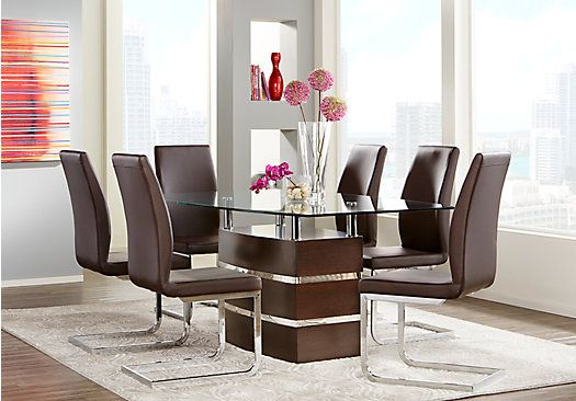 tria merlot 5 pc dining room at rooms to go find dining room sets