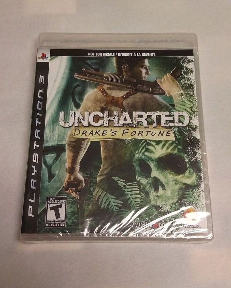 PS3 FACTORY SEALED Uncharted: Drake's Fortune NOT FOR RESALE PROMO BLACK LABEL