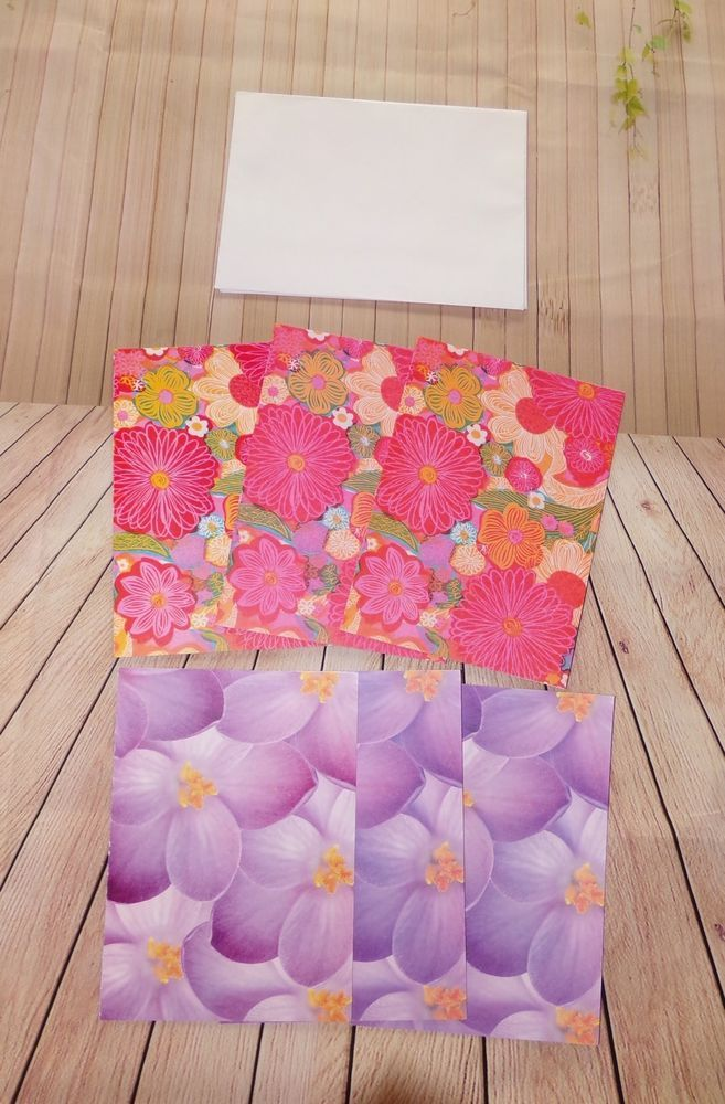 International Rescue Committee 6 Blank Floral Greeting Cards And Envelopes  | eBay