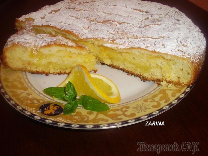 Нежный цитрусовый пирог к чаю