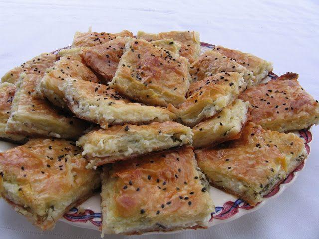 Yasemin's Kitchen: BOREK: Savory Cheese Pastry Squares