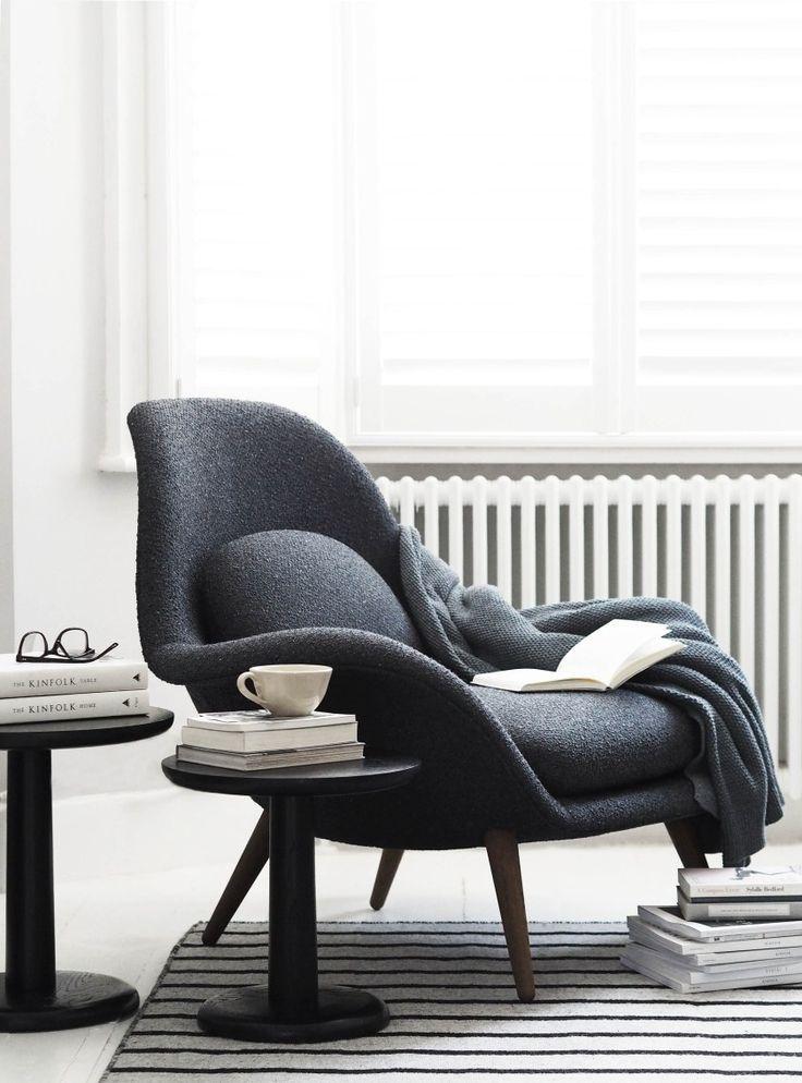 Fredericia furniture: The Modern Originals of tomorrow - minimal furniture design - Danish design - Swoon chair by Space Copenhagen - contemporary armchair