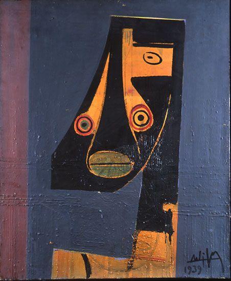 Cubista de la cara, 1939. Cubismo - Wifredo Lam
