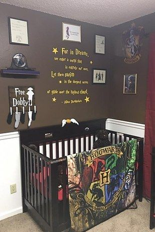 While expecting their fourth child, Tiffany and her husband came up with a brilliant plan to create a Harry Potter-themed nursery, and it's basically what dreams are made of. | This Harry Potter-Themed Nursery Is Wonderfully Enchanting