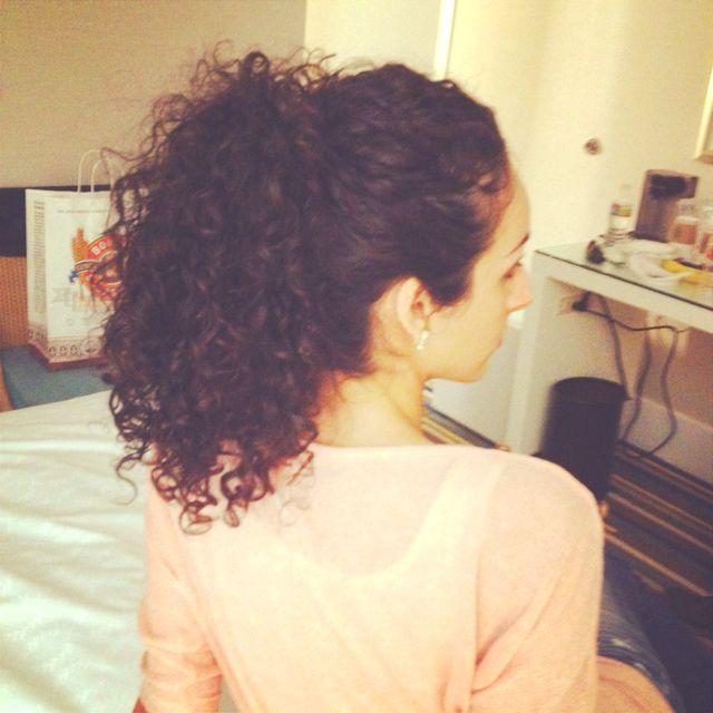 Terrific 1000 Ideas About Curly Hair Ponytail On Pinterest Hair Ponytail Short Hairstyles Gunalazisus