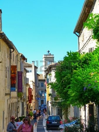 Street of the village of Saint Remy de Provence