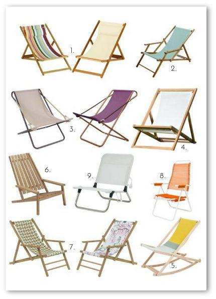 Wunderschöne Liegestühle für Balkon, Terrasse und Garten. #liegestuhl #strandstuhl #holz #sommer