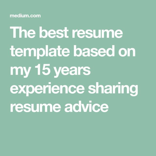 Best 25+ Best resume template ideas on Pinterest Best resume, My - the best resumes