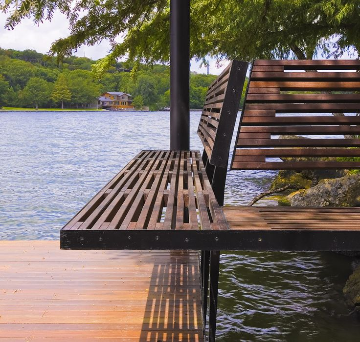 Deck Bench Seating: 193 Best Lakeside Landscapes Images On Pinterest