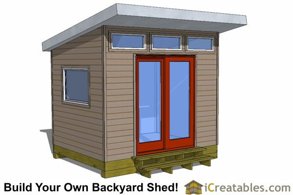 Best 25 modern shed ideas on pinterest diy shed plans for 8x8 room design