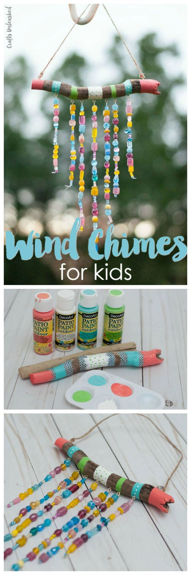 Beaded DIY Wind Chimes For Kids - Summer Craft