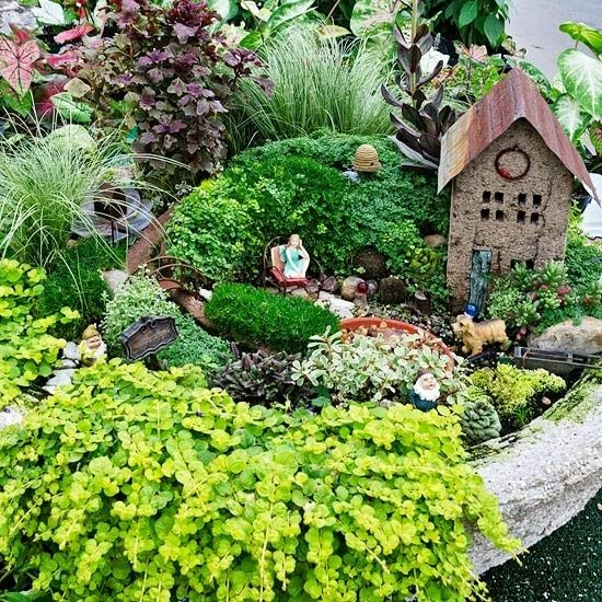 Superior Old Bird Bath Turned Into Fairy Garden. My Favorite Is The Creeping Jenny  Spilling Over
