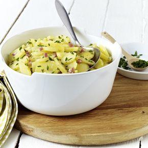 Unser beliebtes Rezept für Klassischer Kartoffelsalat mit Brühe und mehr als 55.000 weitere kostenlose Rezepte auf LECKER.de.