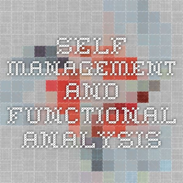 p e self analysis We conducted a component analysis of a self-management intervention and observed that decreases in stereotypy might be attributable to instructional control or to.