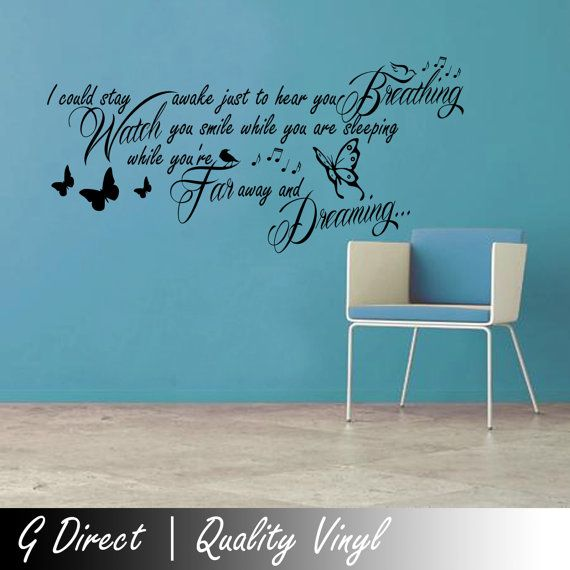 Aerosmith Breathing Lyrics Wall Sticker Quote Bedroom By