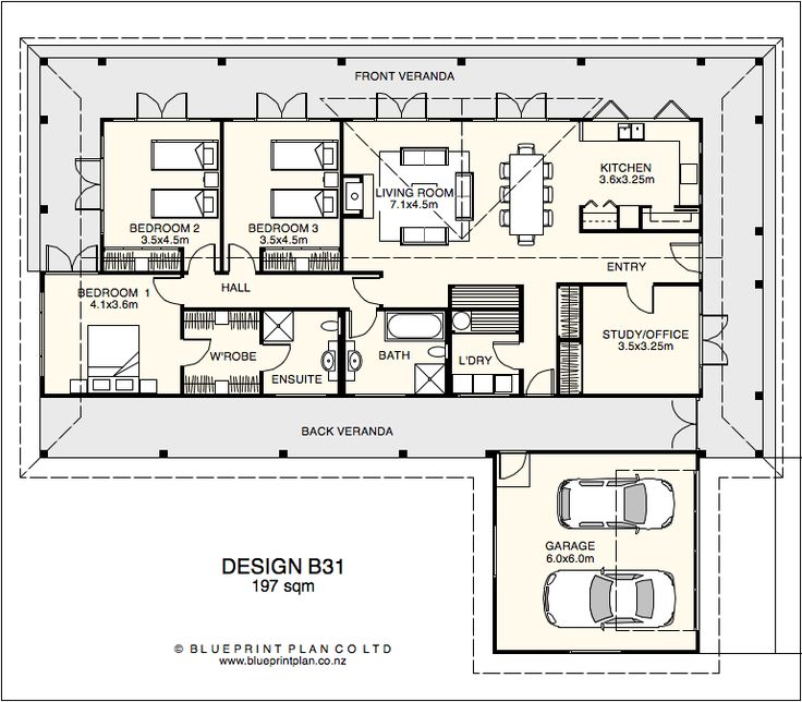 Inside House Designs Plans Part - 24: Veranda Right Around And Light And Spacious Inside · House Plans DesignHouse  ...
