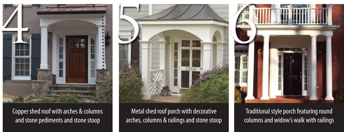 17 best exterior pvc trim ideas images on pinterest for Front porch roof types