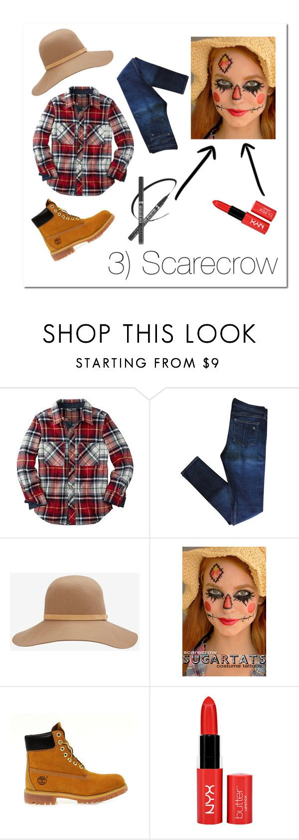 """""""Last-minute Halloween Costume- Scarecrow"""" by i-dont-do-mornings ❤ liked on Polyvore featuring rag & bone and Timberland"""