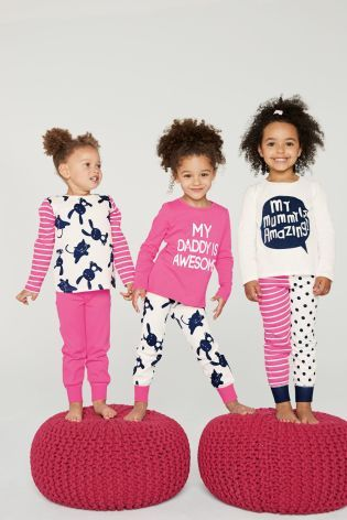 Buy Three Pack Mum And Dad Snuggle Pyjamas (12mths-6yrs) from the Next UK online shop