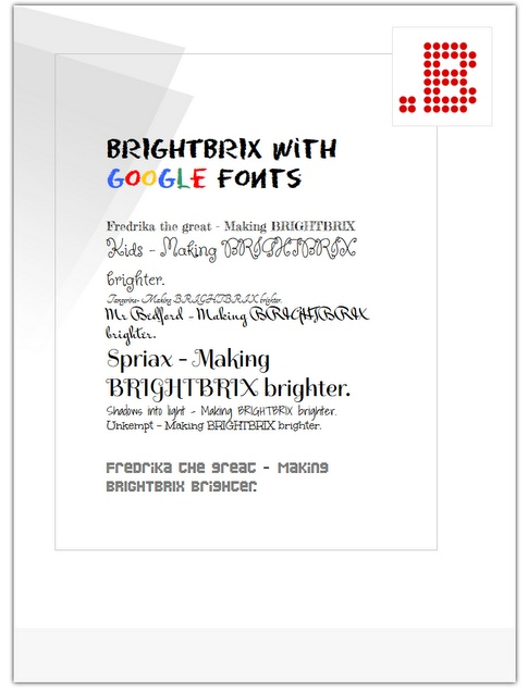 BrightBrix: A BRIGHTBRIX GLIMPSE 004 - Create great looking documents using Google fonts