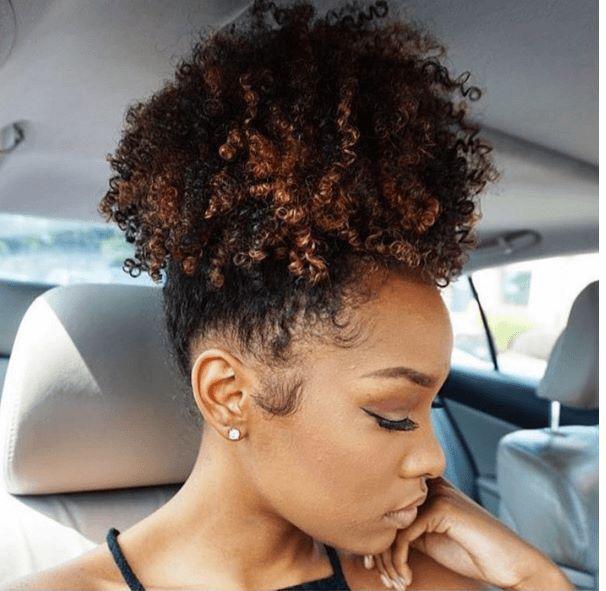 Curly high puff