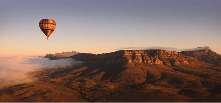 There's more than one way to see the Heysen Trail - ballooning over Wilpena Pound in the Flinders Ranges.  http://www.outbackballooning.com.au/locations/flinders-ranges/