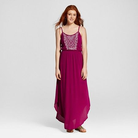 Women's Embroidered Maxi Dress - Mossimo Supply Co. : Target