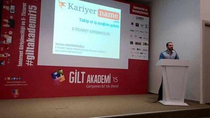 Kadir Has Üniversitesi'nde gerçekleşen #Giltakademi15 etkinliğinde E-Ticaret ve #Kariyer Girişimciliğini anlattık...   #staj #girişimcilik #sosyalmedya #eticaret #insankaynakları