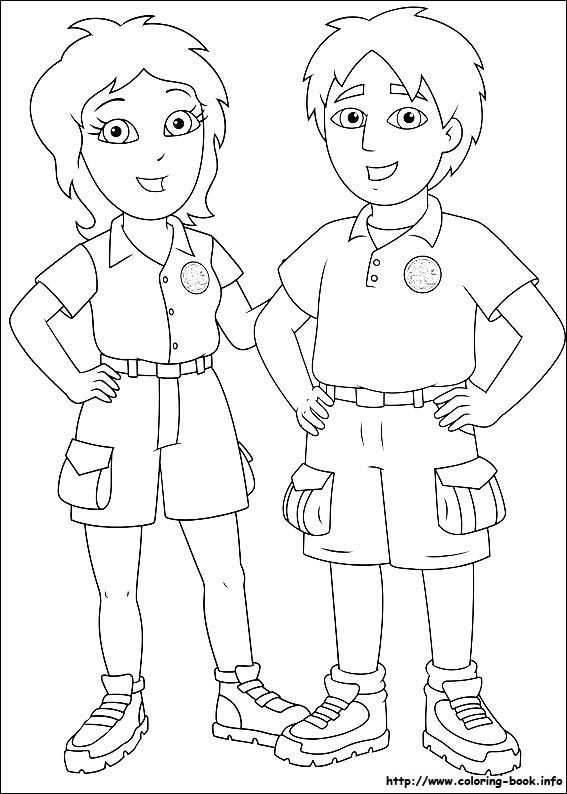 coloring pages diego - photo#14