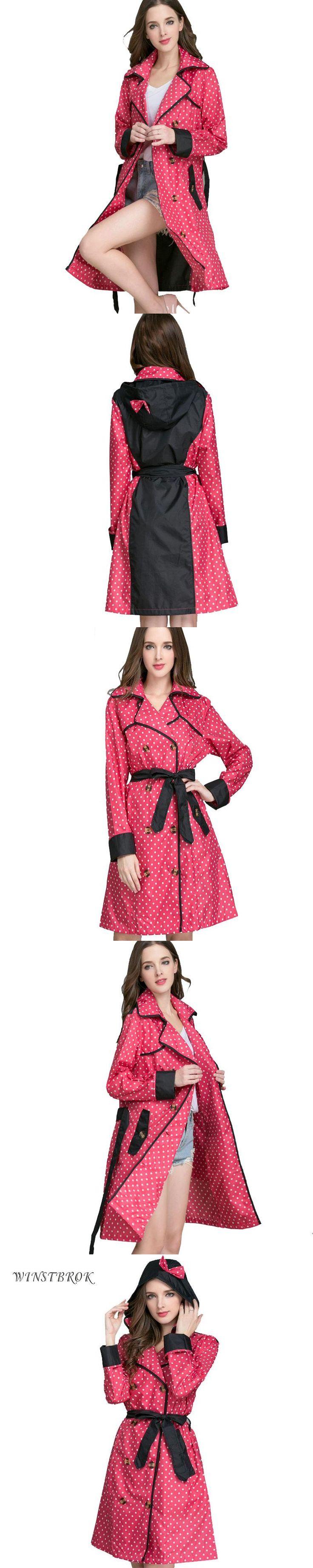 WINSTBROK Long Raincoat Women Ladies Rain Coat 2017 Women's Rainwear Breathable Outdoor Travel Water-Repellent  Riding Clothes
