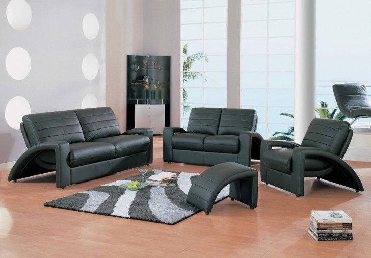 black living room furniture sets