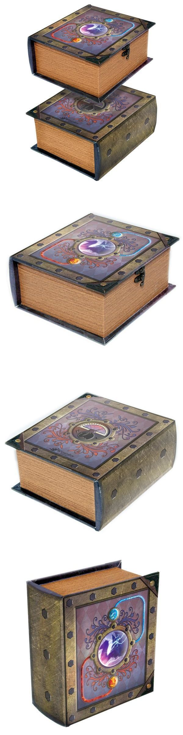 CCG Deck Boxes 183462: Reaction Pro Tour Deck Spellbook Wooden Fabric Lined For Magic Tcg Mtg Yugioh -> BUY IT NOW ONLY: $47.99 on eBay!