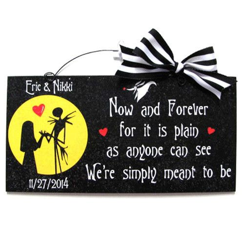 Nightmare before Christmas Love sign.