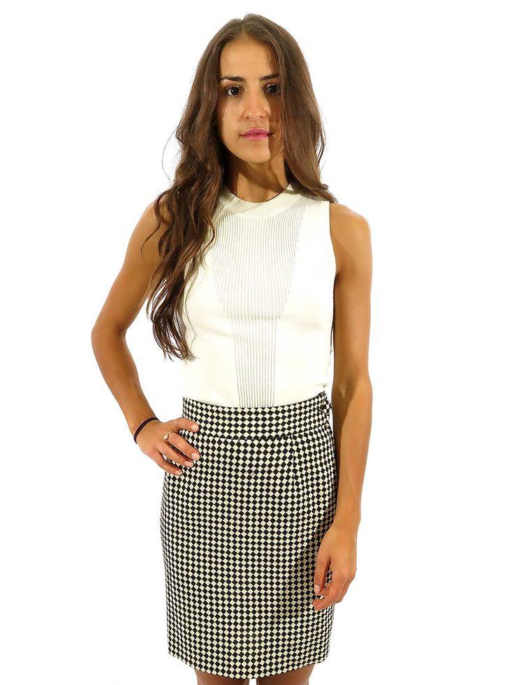 Moschino Couture | Check Skirt in black & white www.sabrinascloset.com