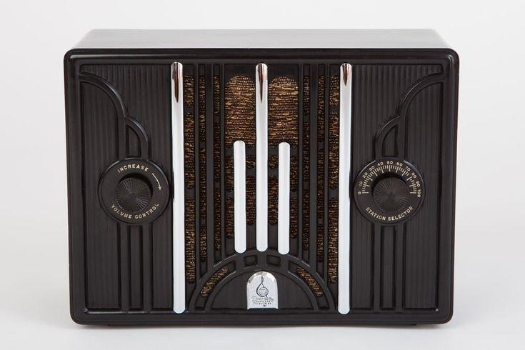 58 best art deco radios images on pinterest art deco art antique radio and appliances. Black Bedroom Furniture Sets. Home Design Ideas