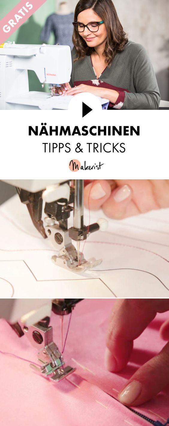 Gratis Video-Kurs: Tipps und Tricks zur Nähmaschine - Schritt für Schritt erklärt im Video-Kurs via Makerist.de