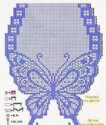 Resultado de imagen para carpetas a crochet con mariposas