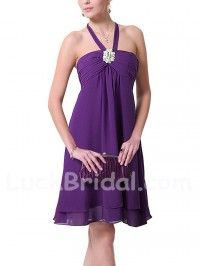 Short Rhinestone Zipper A Line Bridesmaid Dresses