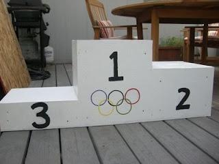 pretend olympic podium