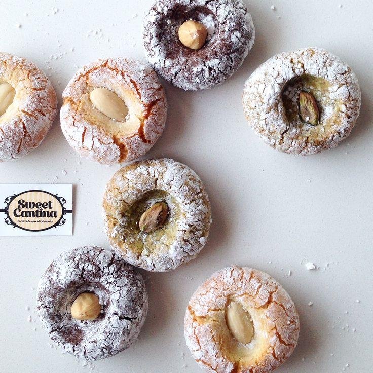Amaretti Pistachio, almond & hazelnut.