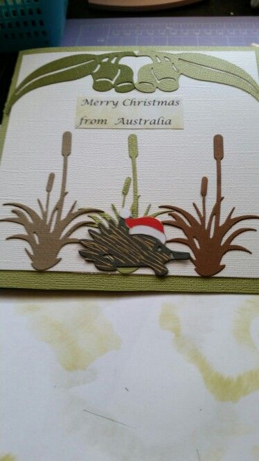 Use of ultimate crafts australiana die cuts.