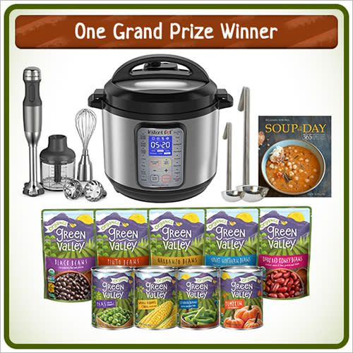 Enter to win the ultimate soup-making prize pack in our Green Valley SOUPer Fan Sweepstakes!