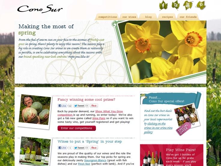 Top 10 Kentico Websites for May 2012 http://devnet.kentico.com/Blogs/Lenka-Navratilova/June-2012/Top-10-Kentico-Websites-for-May-2012.aspx Cono Sur Seasons  Implemented by:  Obergine, United Kingdom  Kentico Gold Partner