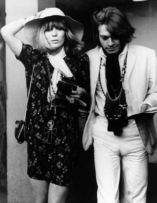I think dressing like a rock star is a little too obvious. I always kind of wanted to dress like a rock star's girlfriend, particularly the ubiquitous Anita Pallenberg.