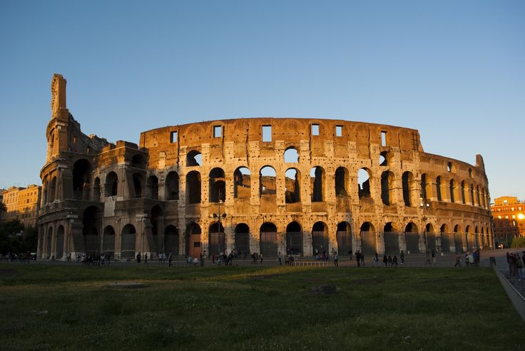 The Colosseum in late afternoon. I visited Rome in 1986