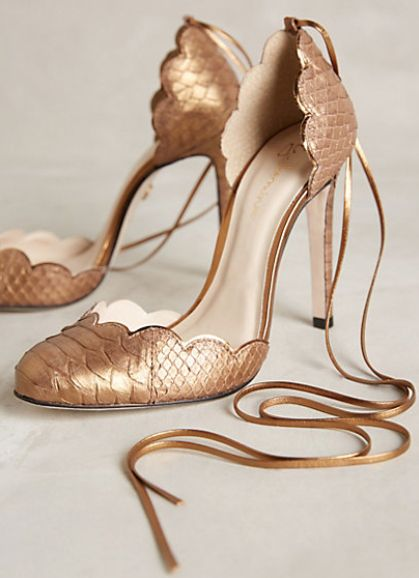 gilded python heels #anthrofave  http://rstyle.me/n/tpzdipdpe