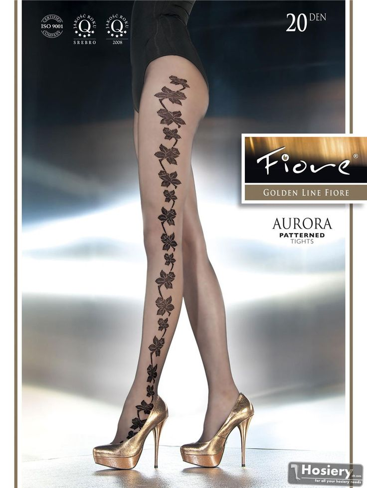 Patterned tights 20 den Aurora from Fiore