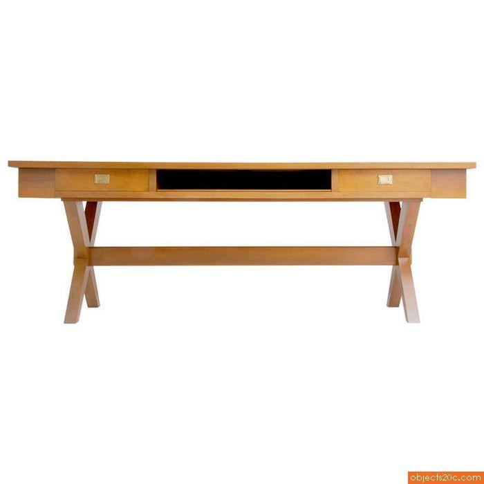 Massive Desk/Console in the Manner of Gio Ponti, 1960