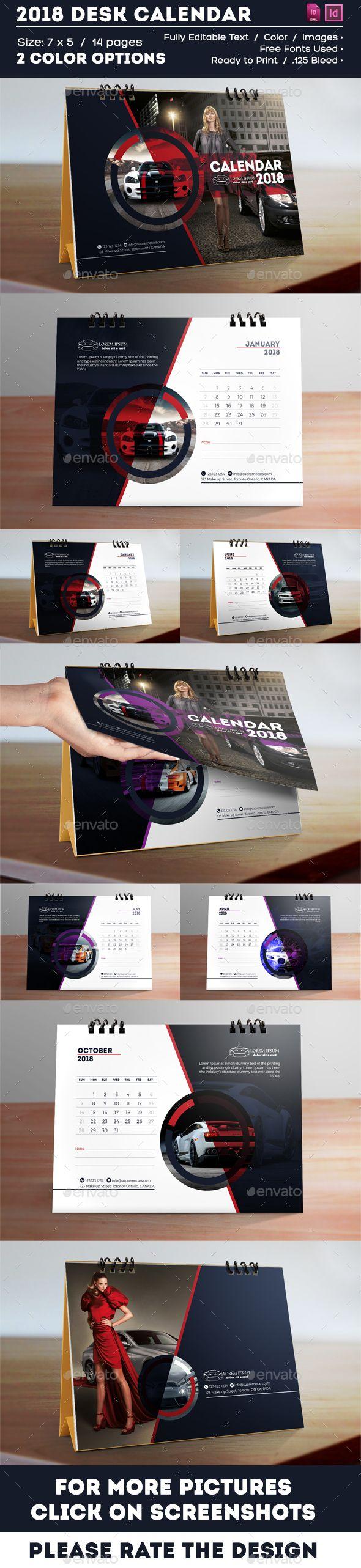 Calendar - 2018 Creative Desk Calendar - Multipurpose