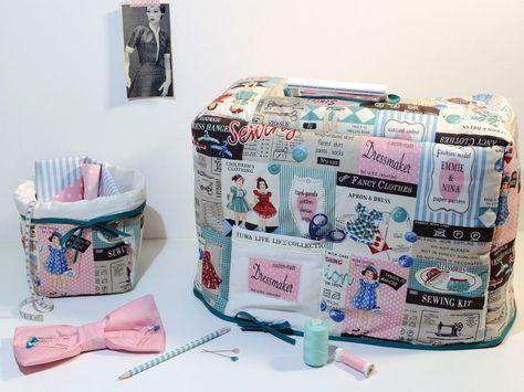 Personnaliser votre machine à coudre avec une housse sympa 100 % home made. Un joli tissu et le tour est joué! A vos machines, mesdames...